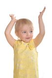Little girl dance Royalty Free Stock Photography