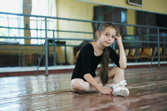 Little girl in the dance class Royalty Free Stock Photography