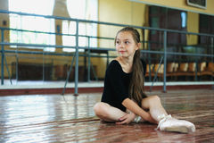 Little girl in the dance class Stock Photo