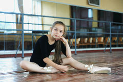 Little girl in the dance class Royalty Free Stock Photo