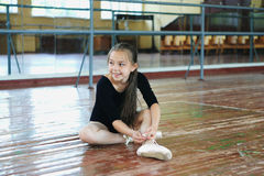 Little girl in the dance class Royalty Free Stock Image