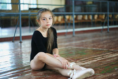 Little girl in the dance class Royalty Free Stock Images