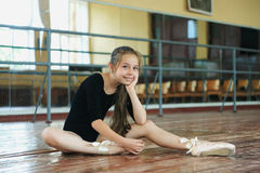 Little girl in the dance class Stock Photography