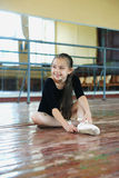 Little girl in the dance class Stock Images
