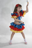 Little girl dancer. Royalty Free Stock Photos