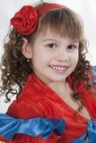 Little girl dancer. Stock Photos
