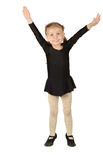 Little Girl dancer isolated on White Background Royalty Free Stock Photo
