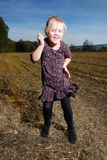 Little girl dances Royalty Free Stock Images