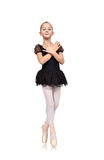 Little girl dances ballet Royalty Free Stock Images