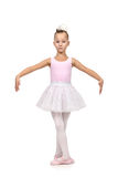 Little girl dances ballet Stock Image