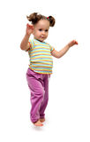 Little girl dancing royalty free stock photography
