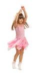 Little girl dancing Stock Image