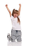 Little girl dancing Royalty Free Stock Photo