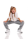 Little girl dancing Stock Photography