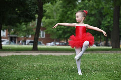 Little girl dancing Royalty Free Stock Image