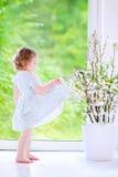 Little girl dancing Stock Photos