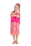 Little girl is dancing Thai dance Royalty Free Stock Photo