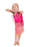 Little girl dancing Thai national dance Stock Images