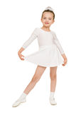 Little girl dancing in white ball gown Royalty Free Stock Photo