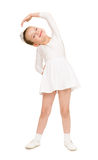 Little girl dancing in a white ball gown Stock Photography