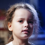 Little girl in darkness Royalty Free Stock Images
