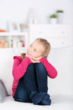 Little girl daydreaming Royalty Free Stock Photos