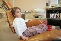 Little girl in dental surgery Royalty Free Stock Photography