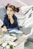 Little girl at the dentist Royalty Free Stock Images