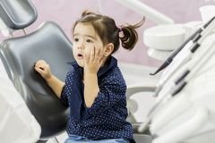 Little girl at the dentist Royalty Free Stock Photography