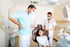 Little girl at the Dentist Stock Photography