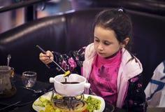 Little girl dessert Stock Image