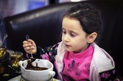 Little girl dessert Royalty Free Stock Images