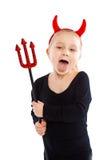Little girl in devil costume. Stock Images