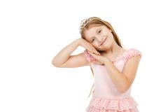 Little girl with a diadem isolated Royalty Free Stock Photography