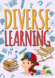 Little girl with diverse learning Stock Image
