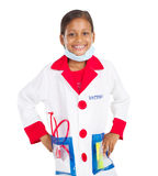 Little girl doctor stock photo