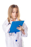 Little girl in doctor costume Royalty Free Stock Images
