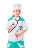 Little girl in a doctor costume Royalty Free Stock Photo