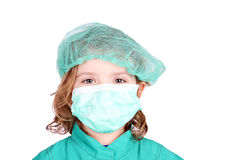 Little girl doctor with mask Royalty Free Stock Photography