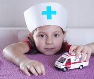 Little girl doctor royalty free stock photo