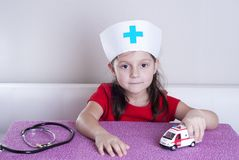 Little girl doctor royalty free stock photography