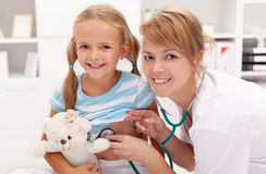 Little girl at the doctor's Stock Image