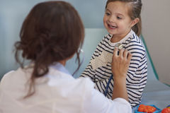 Little girl at doctor's office Royalty Free Stock Photo