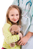 Little girl at the doctors Royalty Free Stock Photo