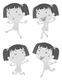 Little girl doing different poses Royalty Free Stock Photography