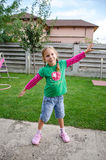 Little girl doing exercices Royalty Free Stock Photo