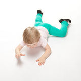 Little girl doing gymnastics Royalty Free Stock Photography