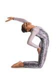 Little girl doing gymnastics Royalty Free Stock Photo