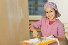 Little girl  doing repair at home Stock Photography