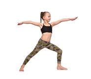 Little girl doing yoga exercise Royalty Free Stock Photo